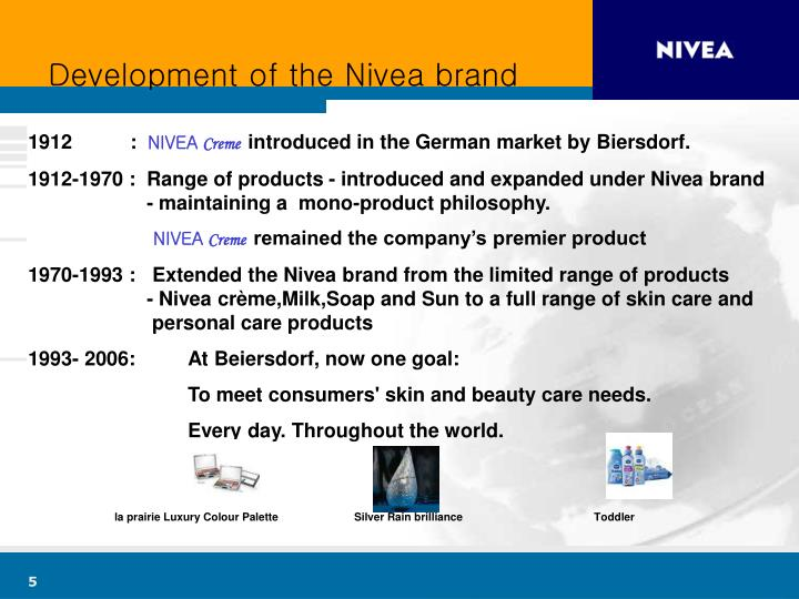Development of the Nivea brand