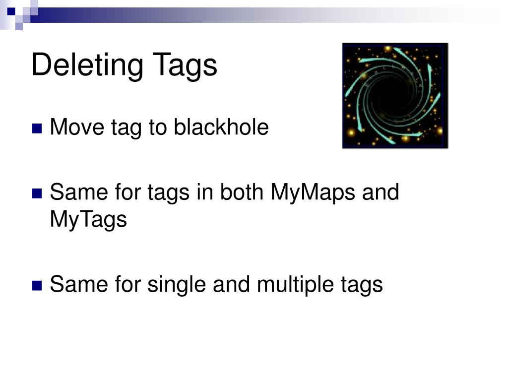 Deleting Tags