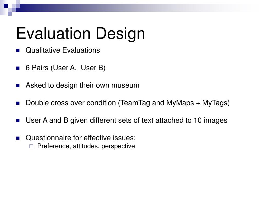 Evaluation Design