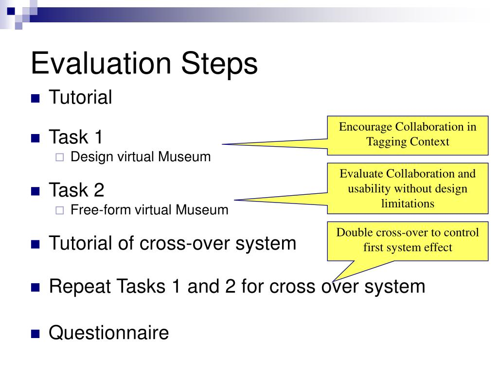 Evaluation Steps