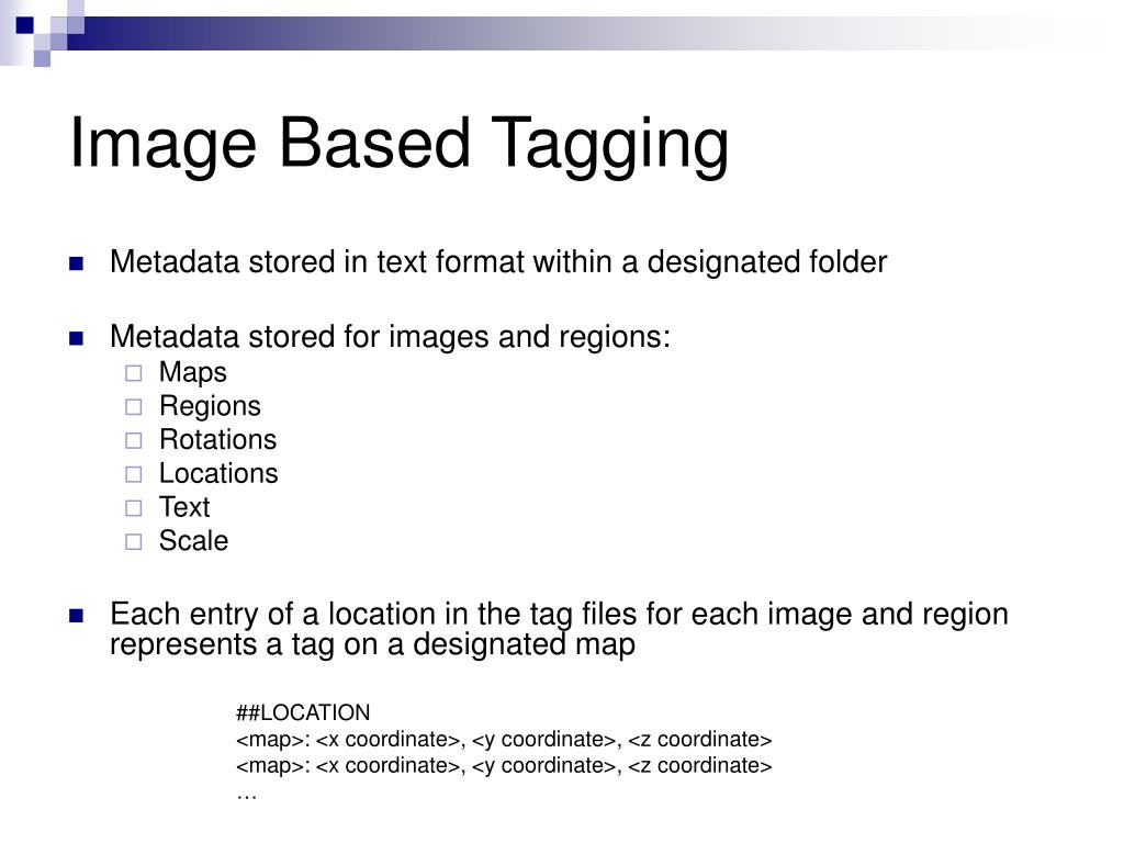 Image Based Tagging