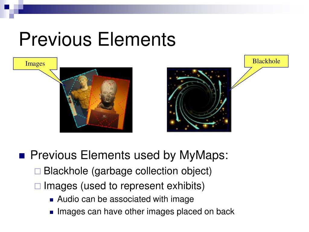 Previous Elements