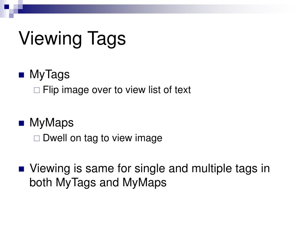 Viewing Tags