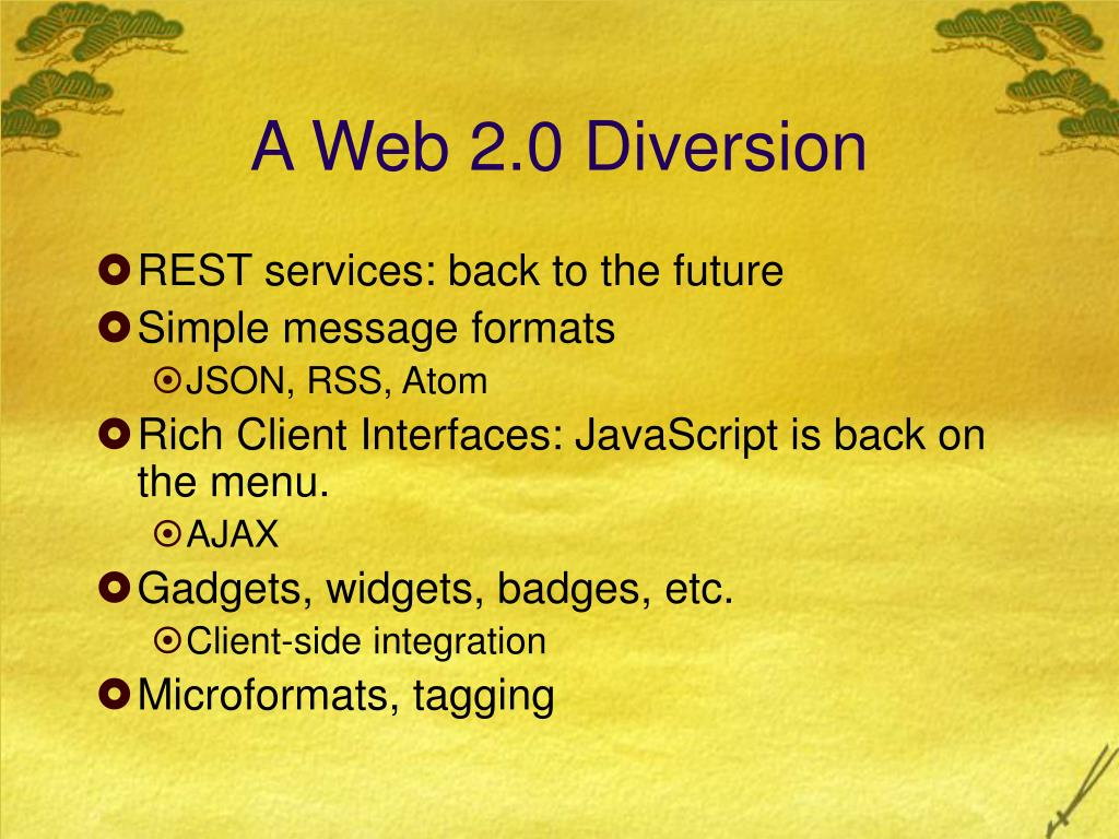 A Web 2.0 Diversion