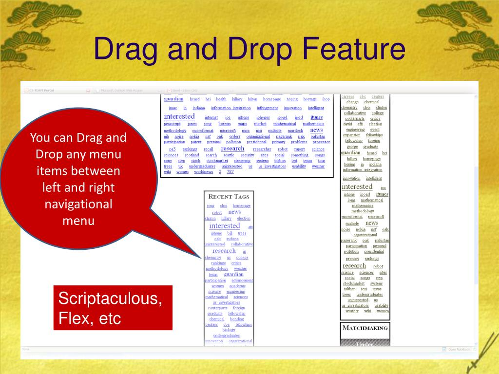 Drag and Drop Feature