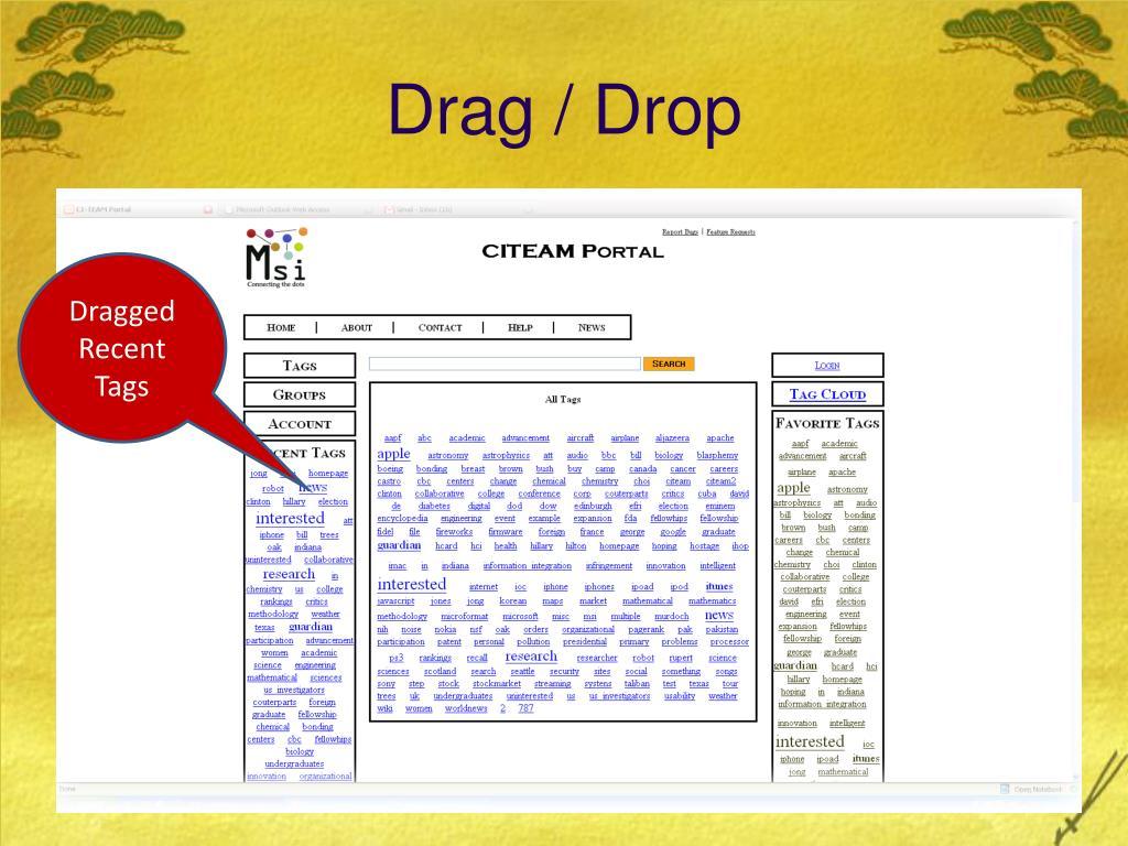 Drag / Drop