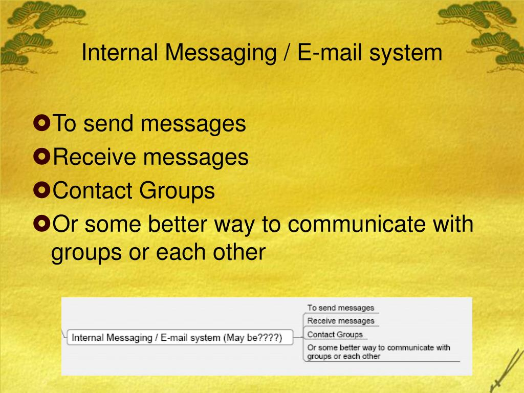 Internal Messaging / E-mail system