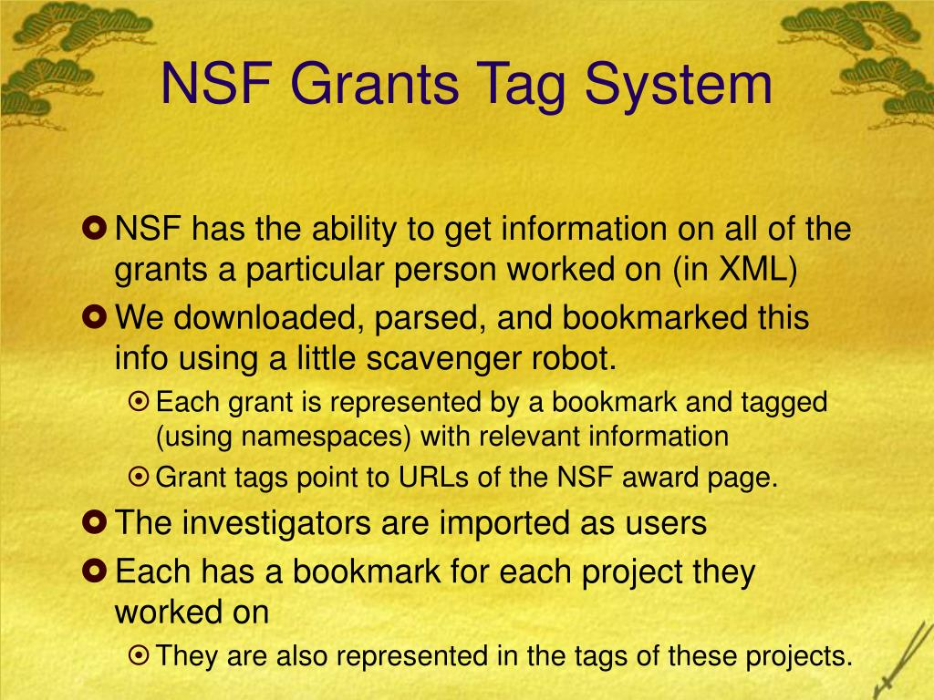 NSF Grants Tag System