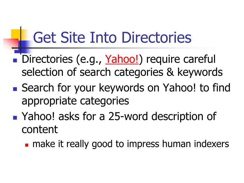 Get Site Into Directories