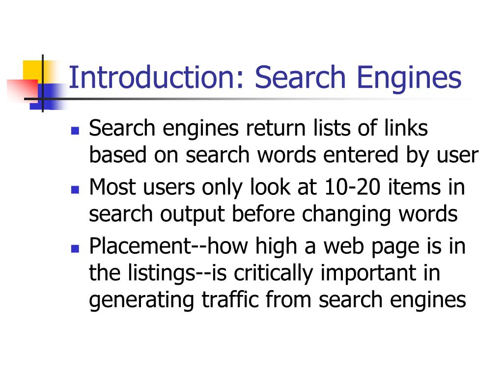 Introduction: Search Engines
