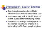 introduction search engines