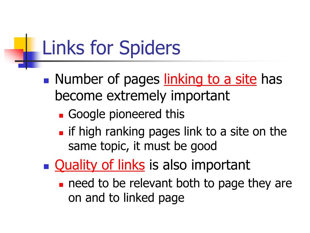 Links for Spiders