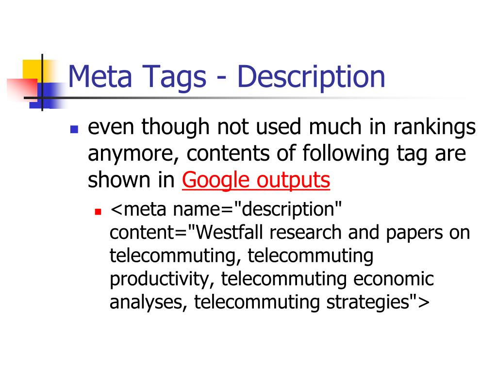 Meta Tags - Description