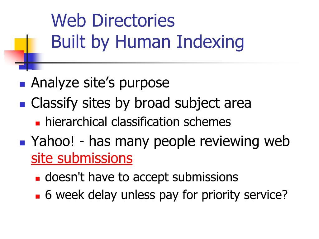 Web Directories