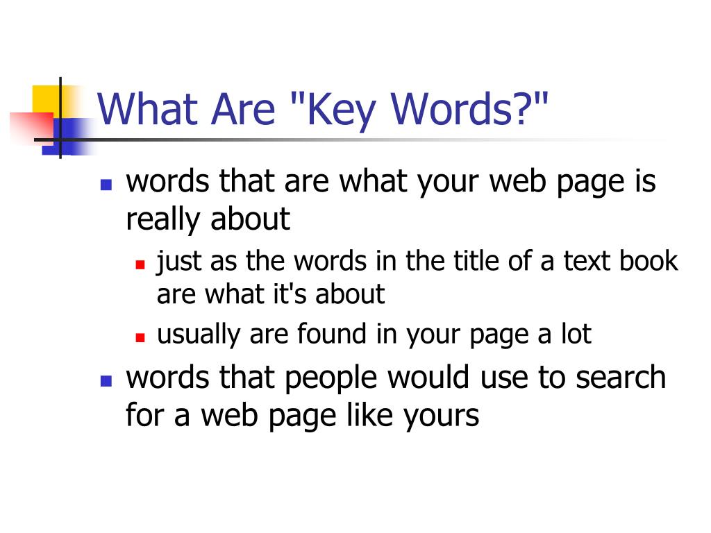 "What Are ""Key Words?"""