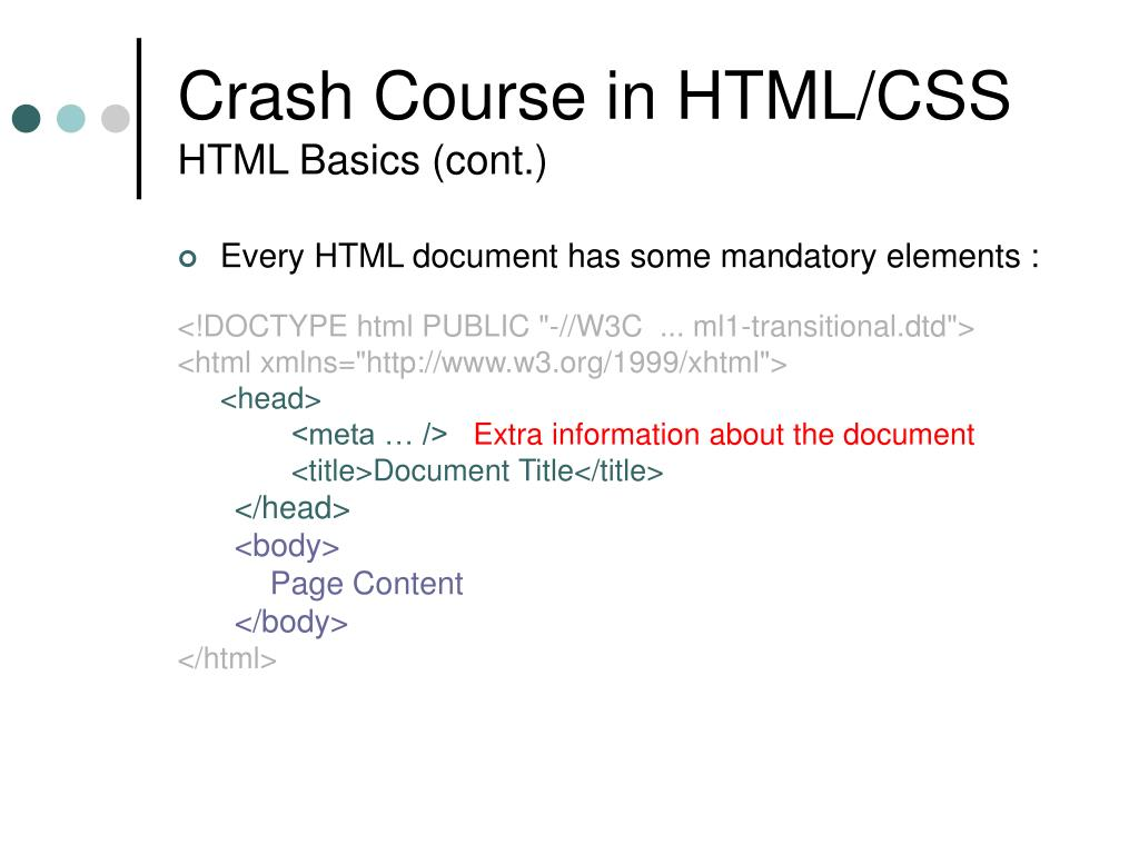 Crash Course in HTML/CSS