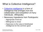 what is collective intelligence