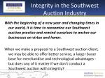 integrity in the southwest auction industry5