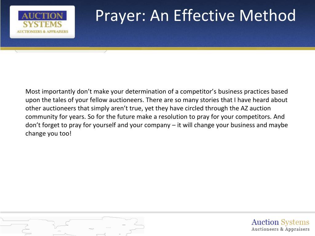 Prayer: An Effective Method