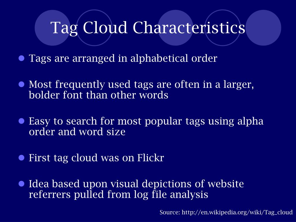 Tag Cloud Characteristics