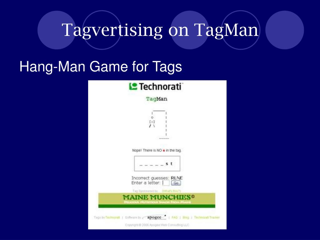 Tagvertising on TagMan