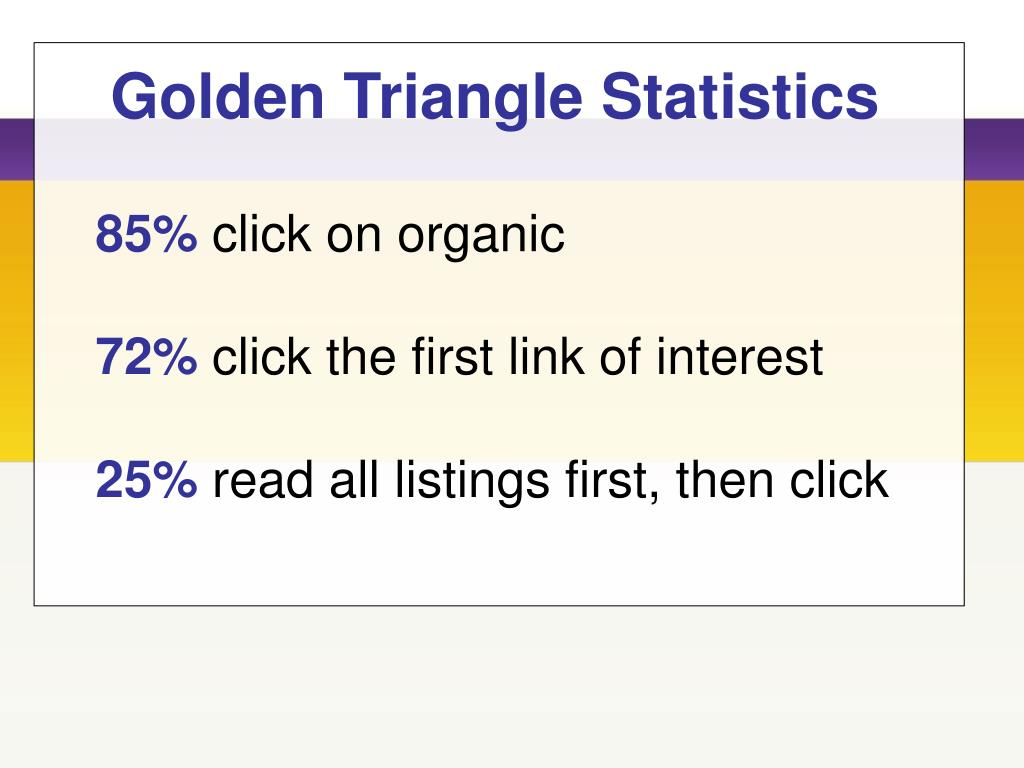 Golden Triangle Statistics