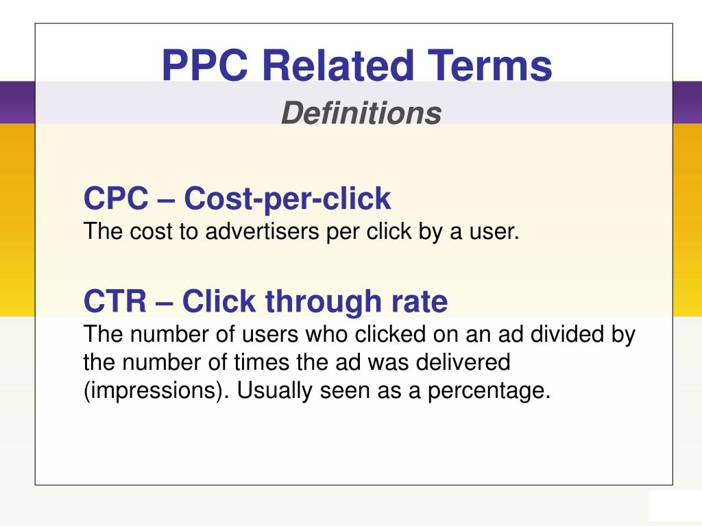 PPC Related Terms