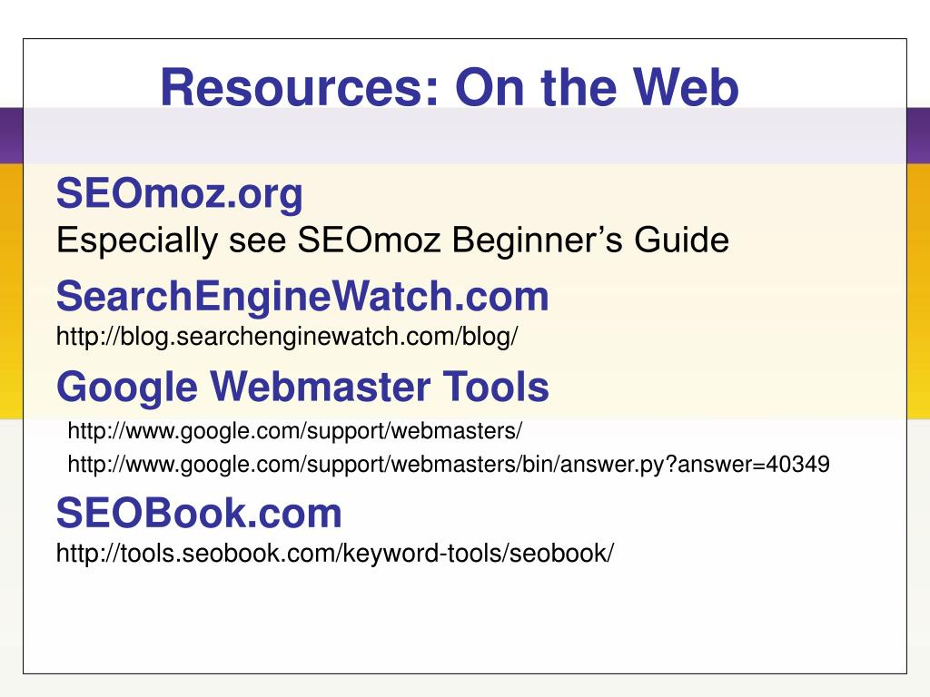 Resources: On the Web