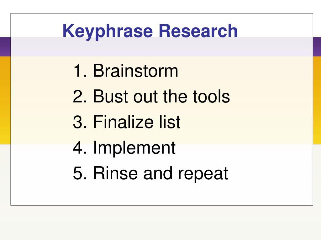 Keyphrase Research