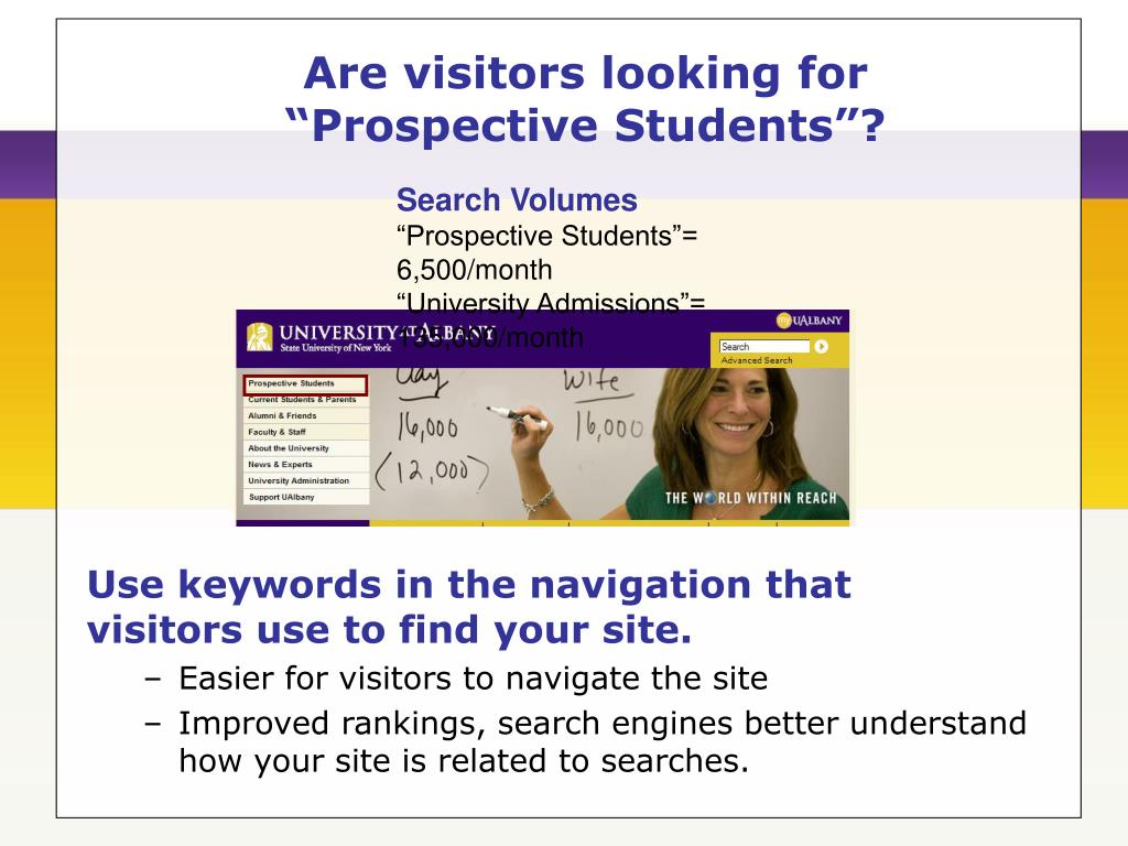 Are visitors looking for