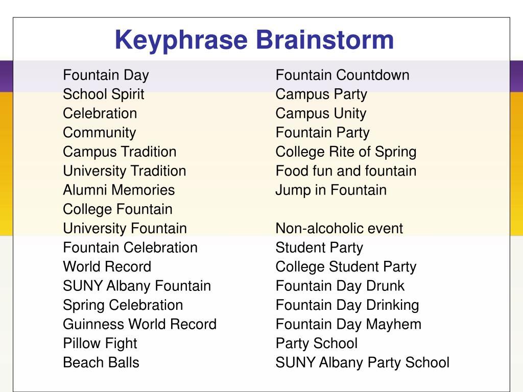 Keyphrase Brainstorm