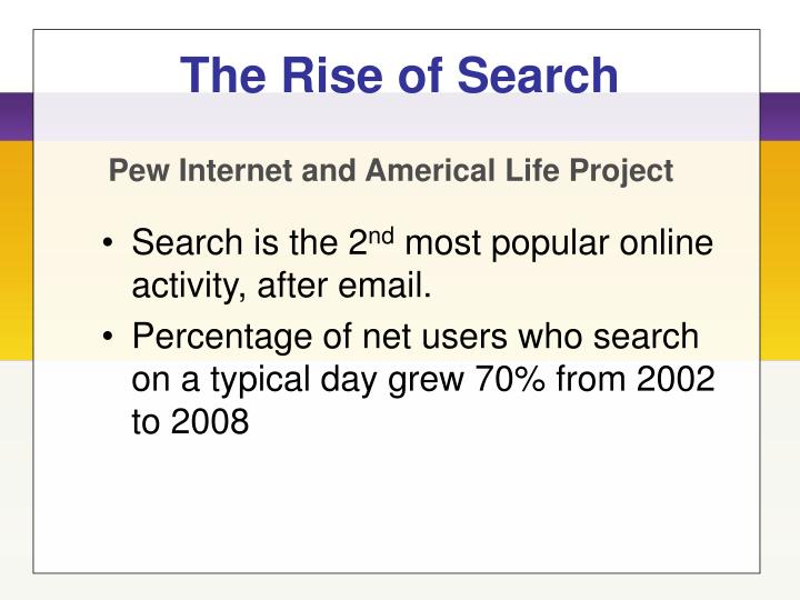 The rise of search l.jpg