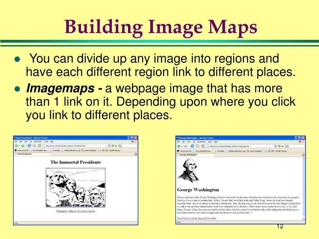 Building Image Maps