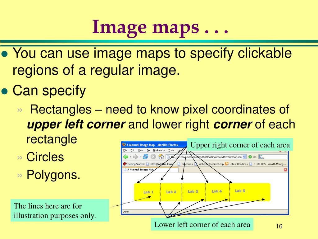 Image maps . . .