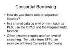 consortial borrowing