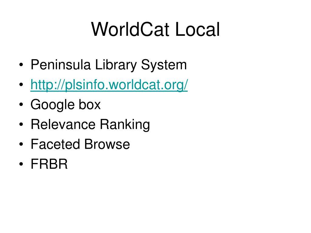 WorldCat Local