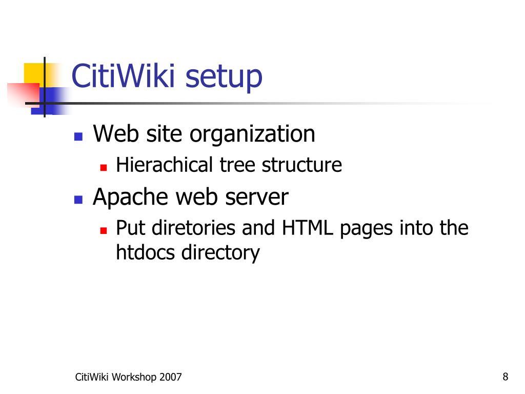 CitiWiki setup