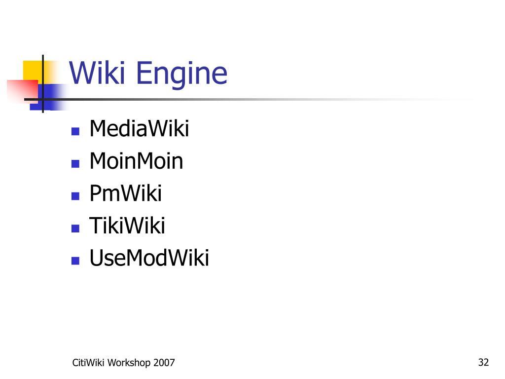 Wiki Engine