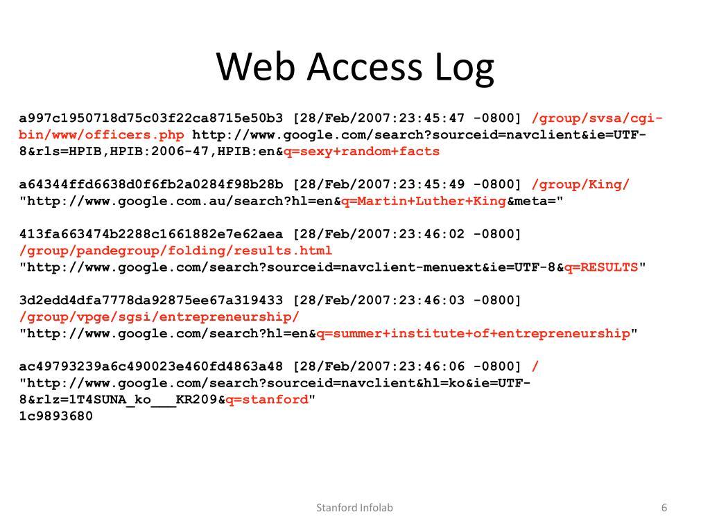 Web Access Log