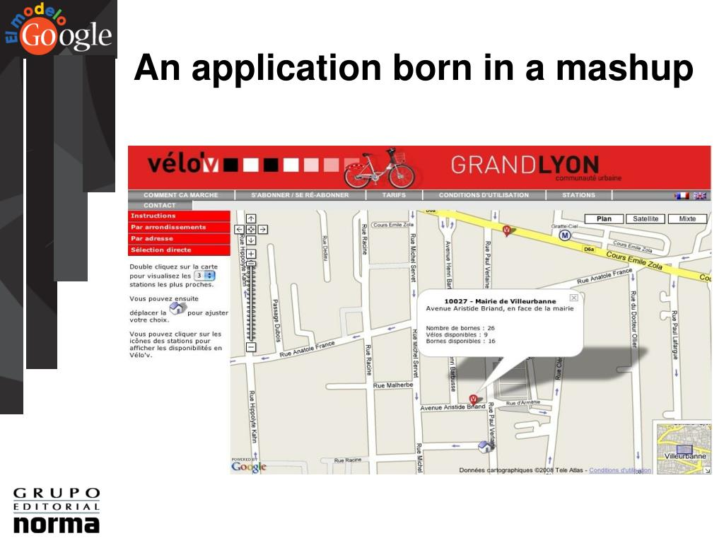 An application born in a mashup