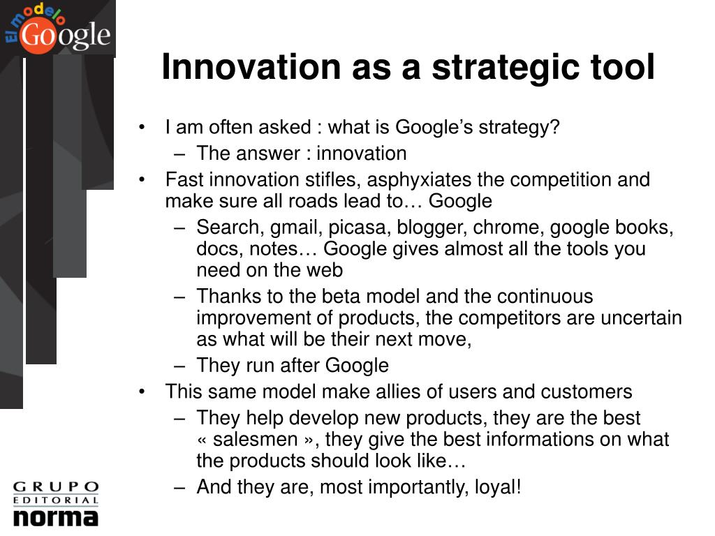 Innovation as a strategic tool