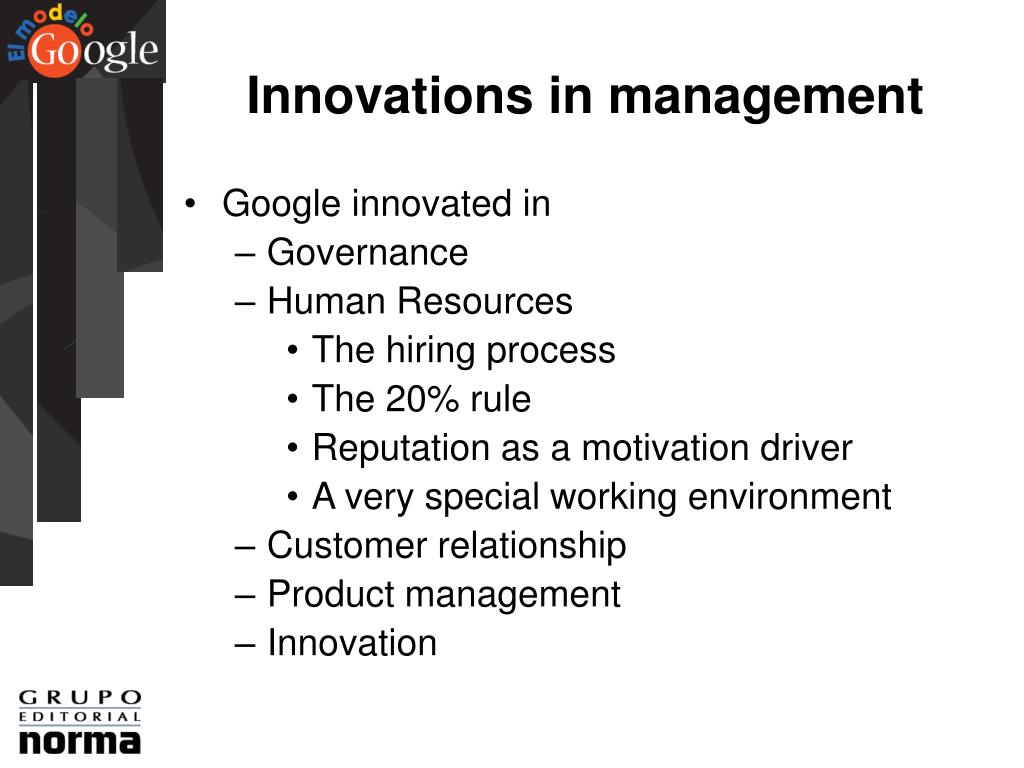 Innovations in management