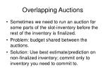 overlapping auctions