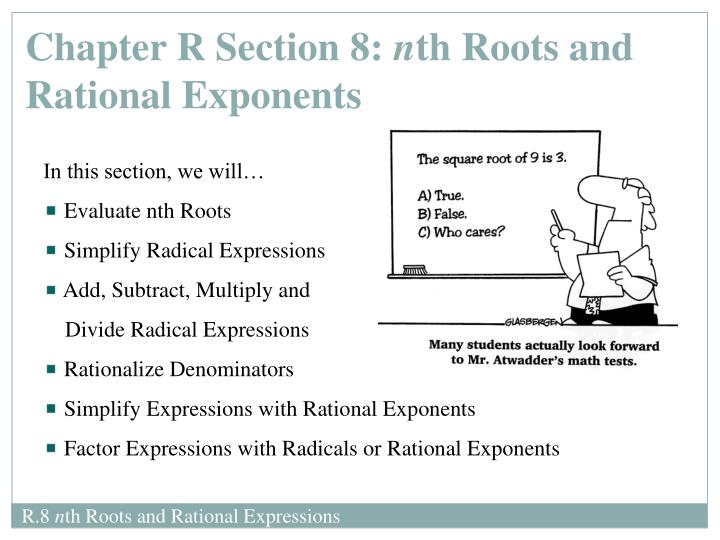 Chapter R Section 8: