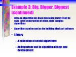 example 3 big bigger biggest continued
