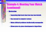 example 4 meeting your match continued