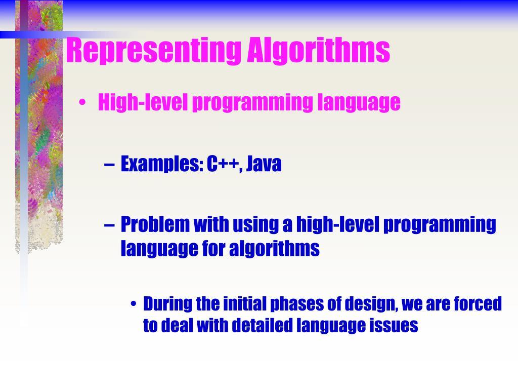 Representing Algorithms