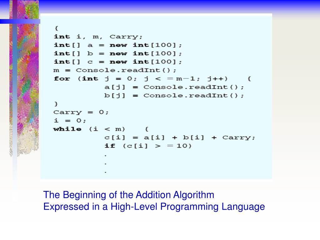 The Beginning of the Addition Algorithm