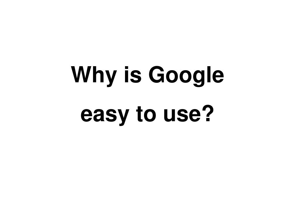 Why is Google