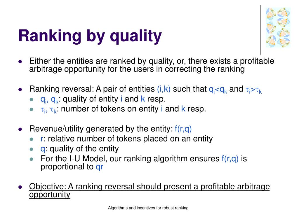 Ranking by quality